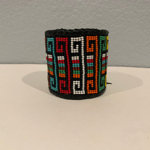 Beaded n leather bracelet 6