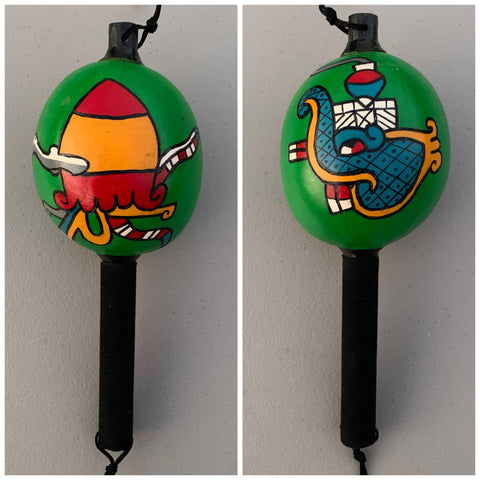Aztec Dance Rattle painted 4