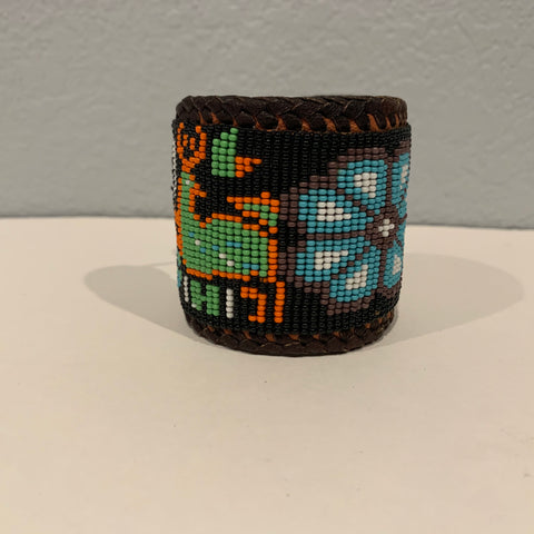 Beaded n leather bracelet 5