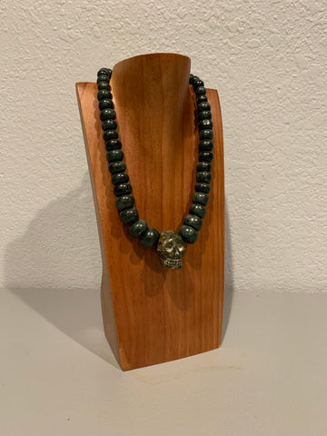 Necklace - Guatamala Jade and Skull pendent 2