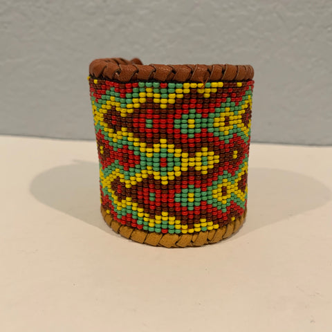 Beaded n leather bracelet 16