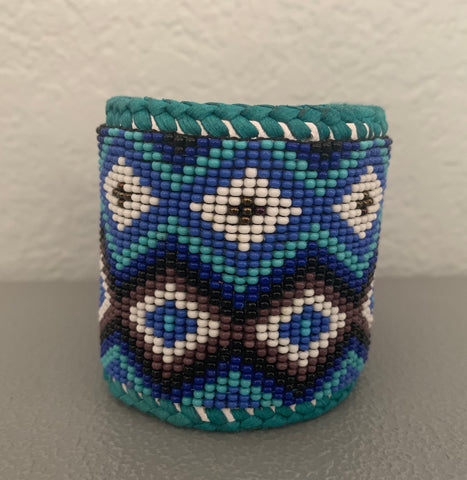Beaded n leather bracelet 46