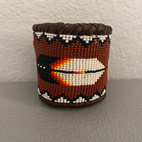 Beaded n leather bracelet 95