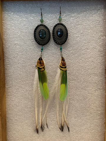 Leather n Feather Earrings 40