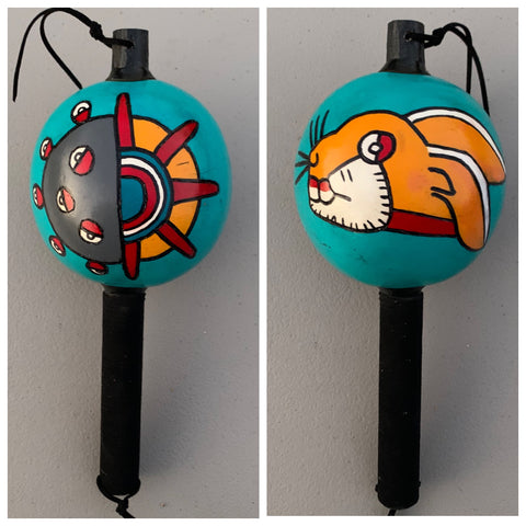 Aztec Dance Rattle painted 6