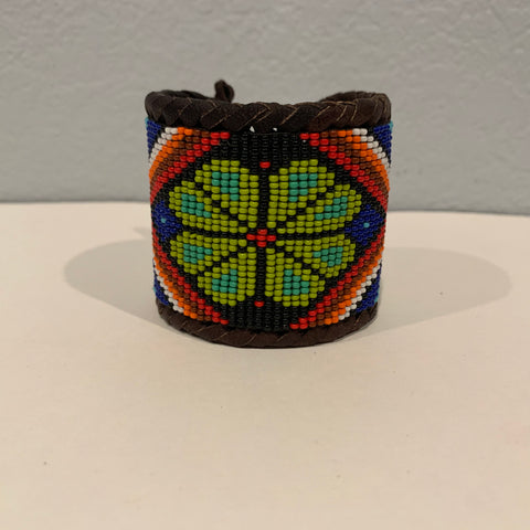 Beaded n leather bracelet 4