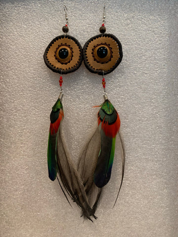 Leather n Feather Earrings 60