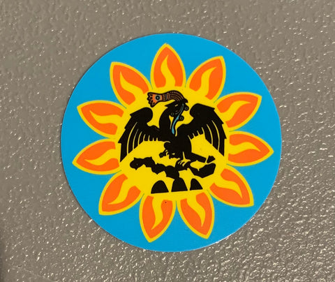 Sticker - Mexica Flag 3""