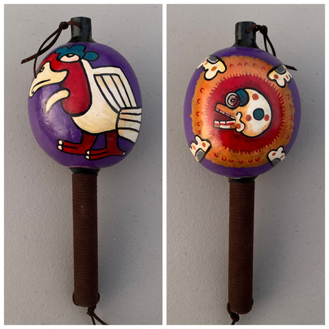 Aztec Dance Rattle painted 7