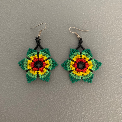 Beaded flower Earrings 12