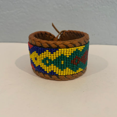 Beaded n leather bracelet 40