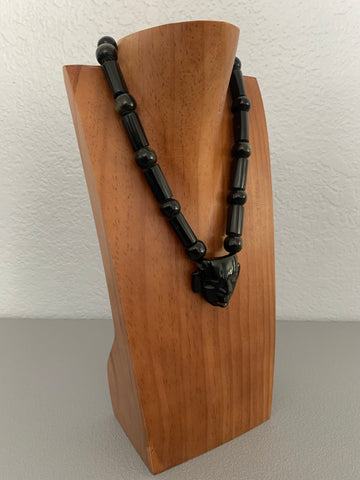 Necklace - Obsidian Beads n mask 3