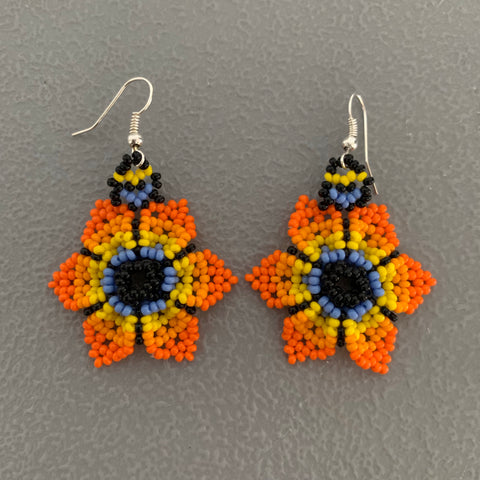 Beaded flower Earrings 6
