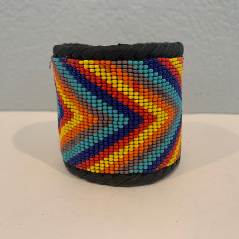 Beaded n leather bracelet 27