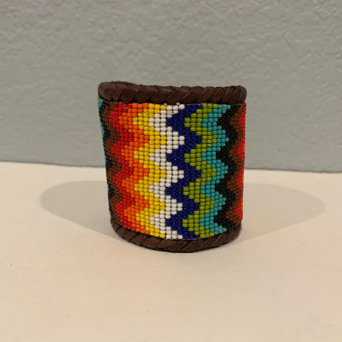 Beaded n leather bracelet 19