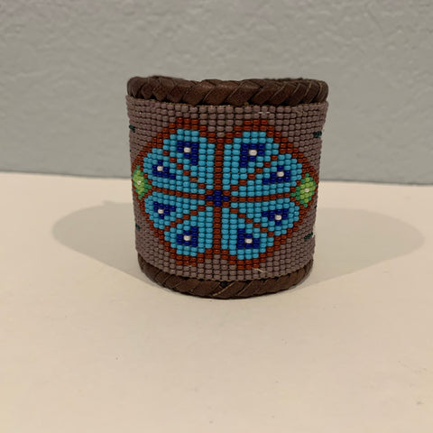 Beaded n leather bracelet 14