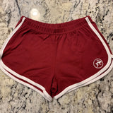 Shorts - Ladie's Fitness Shorts - Tochtli cranberry|white