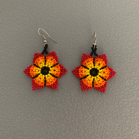 Beaded flower Earrings 11