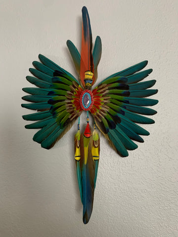 Aztec Dance Feather hair pendent 2