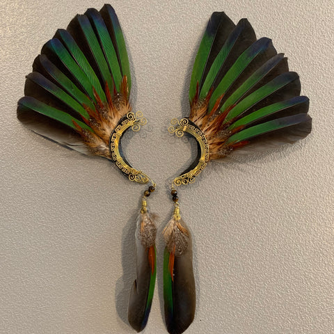 Feather wing Earrings 257