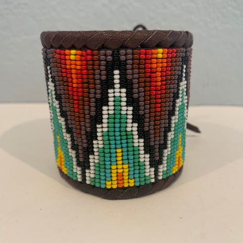 Beaded n leather bracelet 31