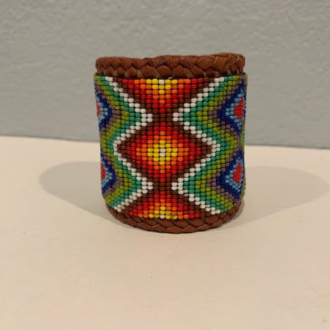 Beaded n leather bracelet 18