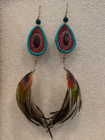 Leather n Feather Earrings 70
