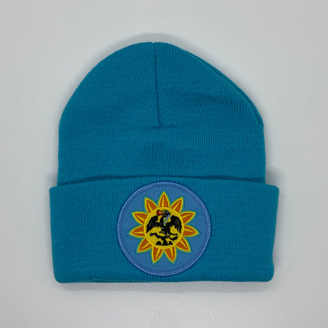 Beanie - Mexica Flag patched (Full color) Teal
