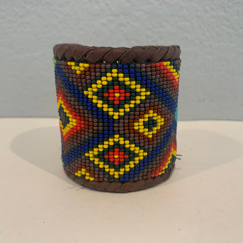 Beaded n leather bracelet 26