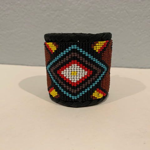 Beaded n leather bracelet 12