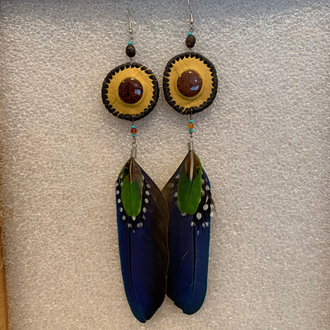 Leather n Feather Earrings 38