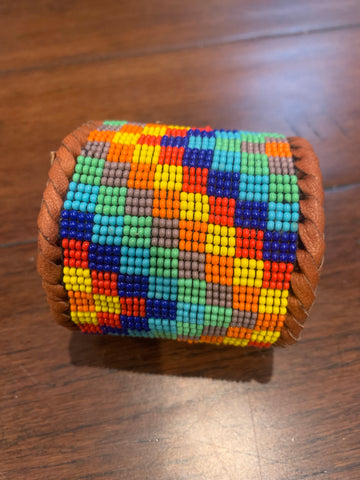 Beaded n leather bracelet 2