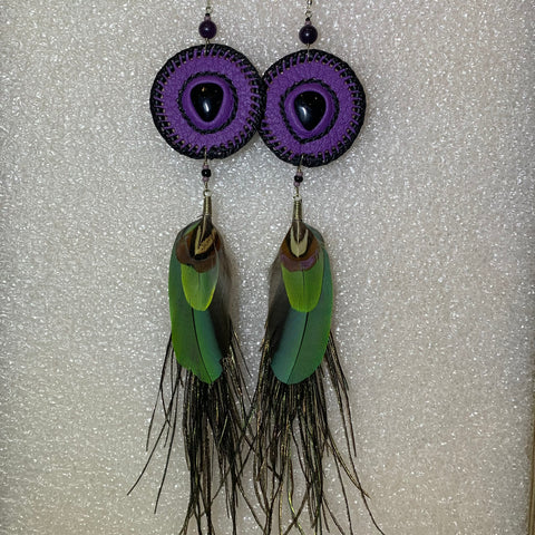 Leather n Feather Earrings 103