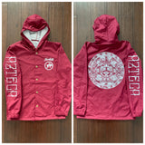 Windbreaker - Aztec Calendar button up cardinal