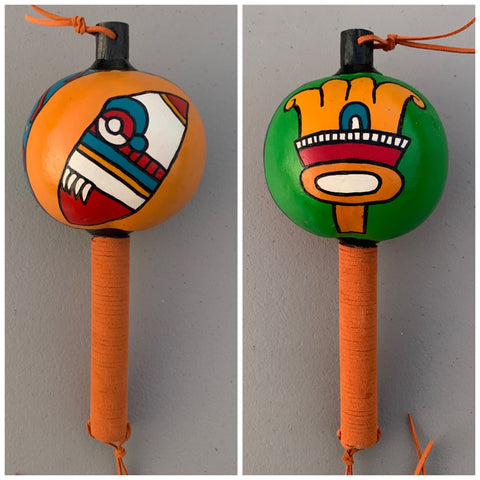 Aztec Dance Rattle painted 5