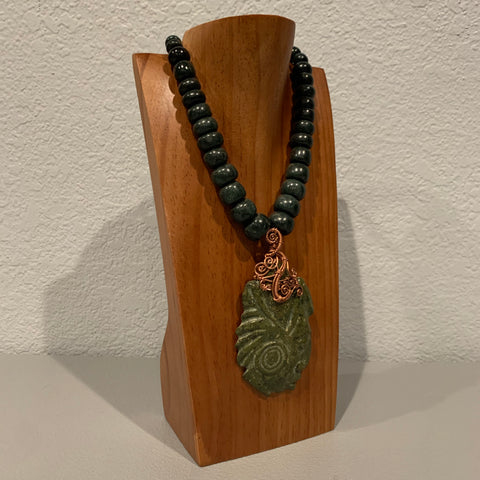 Necklace - Guatamala Jade Mayan Warrior