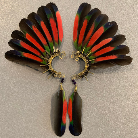 Feather wing Earrings 261