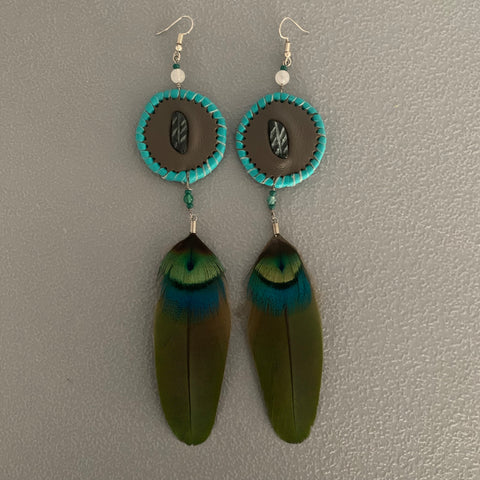 Leather n Feather Earrings 73