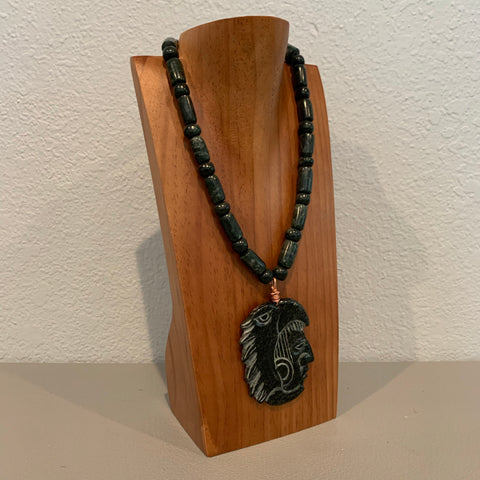 Necklace - Guatamala Jade Eagle Warrior pendent