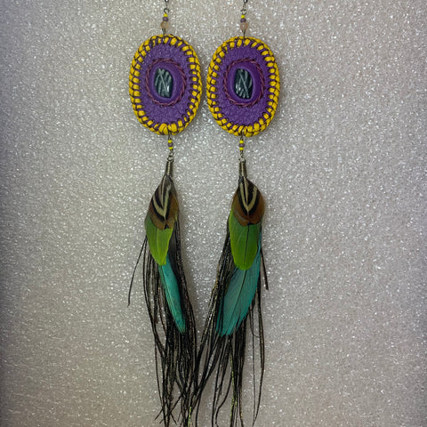 Leather n Feather Earrings 100