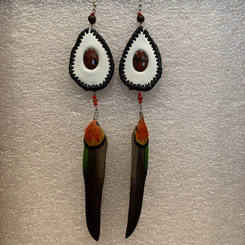 Leather n Feather Earrings 46