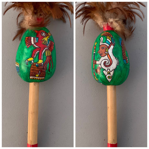 Aztec Dance Rattle painted 9