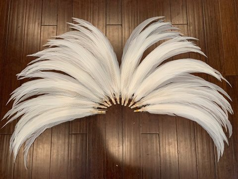 "30-33"" Silver Pheasant Feather, sold in pairs"
