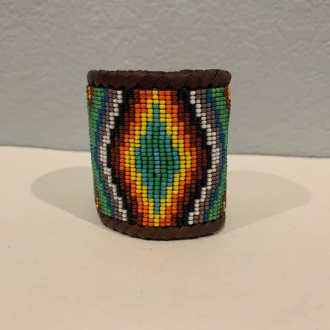 Beaded n leather bracelet 20