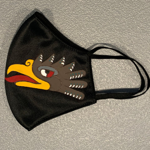 Face mask - hand painted Cuauhtli | Eagle