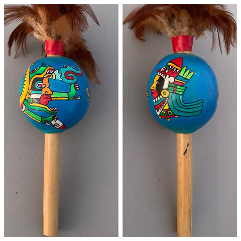Aztec Dance Rattle painted 10