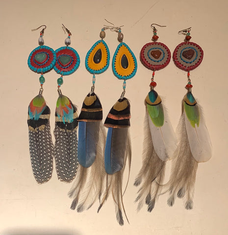 Feather Earrings 3 sets