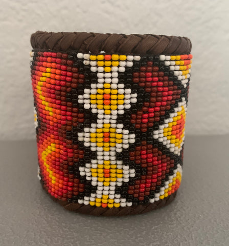 Beaded n leather bracelet 57