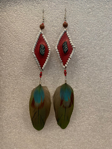 Leather n Feather Earrings 68