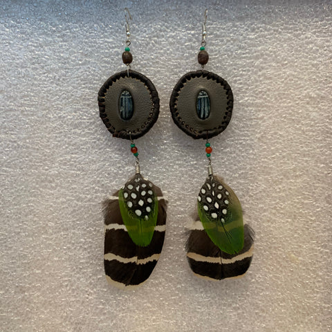 Leather n Feather Earrings 44